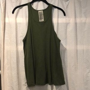 Free People- Dark Green Tank Top